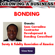 GROWING A BUSINESS Sam Carradine BONDING